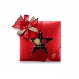 """Pralinenset-Weihnachtsstern """"12er Selection ROT"""""""