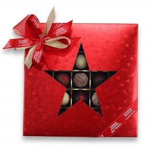 """Pralinenset-Weihnachtsstern """"25er Selection ROT"""""""