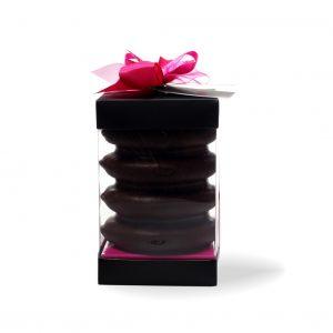 4 Ringe Baumkuchen mit Edel-Zartbitterschokoladenüberzug