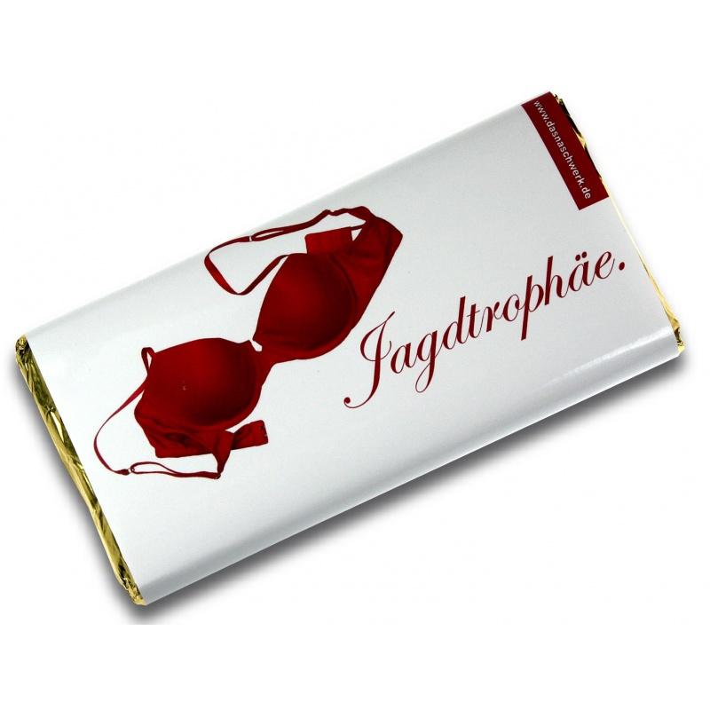 Jagdtrophaee-Mottoschokolade