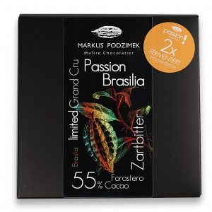 """Passion Brasilia"" Edel-Bitterschokolade mit 55 % Cacao"