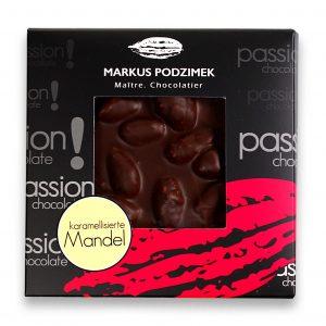 Karamelisierte Mandel Edel-Bitterschokolade mit 60% Cacao