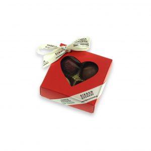 4er Herzpackung Rot