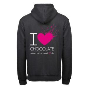 I Love Chocolate Hoodie Herren 1