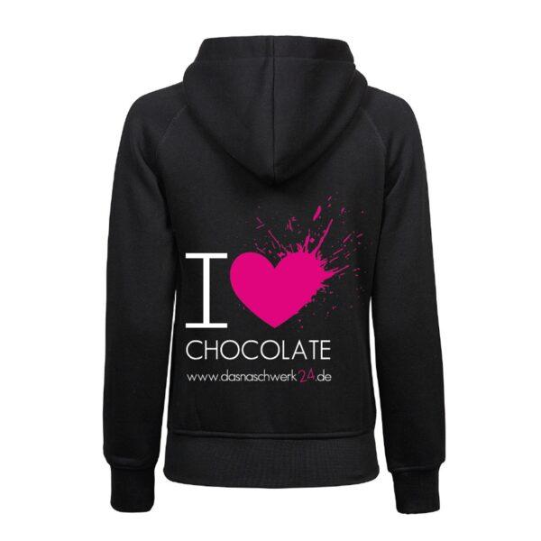 I Love Chocoalte Zipper Damen 1