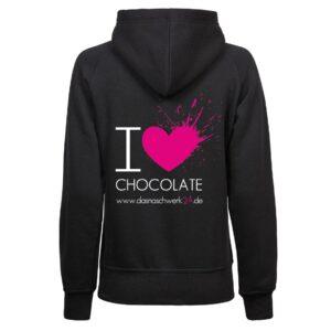 I Love Chocolate Hoodie Damen 1